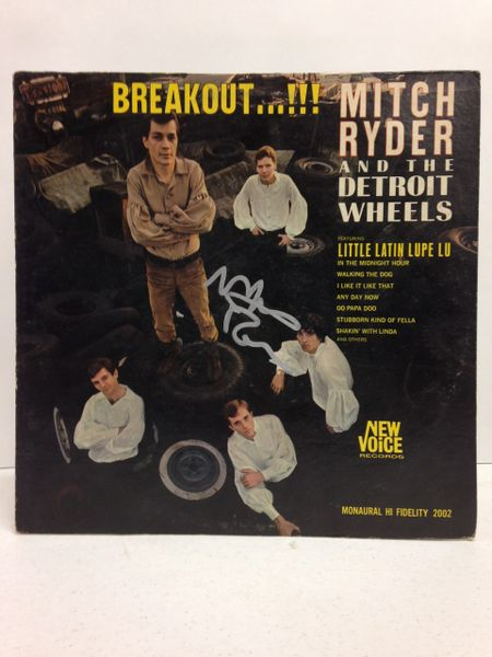 Mitch Ryder and the Detroit Wheels **BREAKOUT...!!!** Signed & Certified LP Cover with vinyl record - GV586161 - signed by: Mitch Ryder
