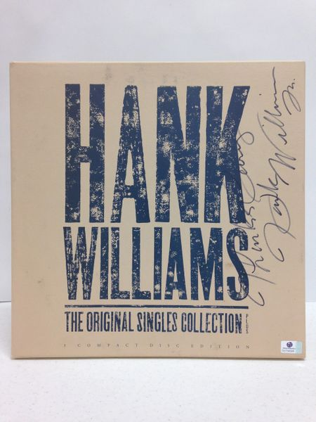 Hank Williams **THE ORIGINAL SINGLES COLLECTION** Signed & Certified CD Collection cover/box with 3 CD's - GV704326