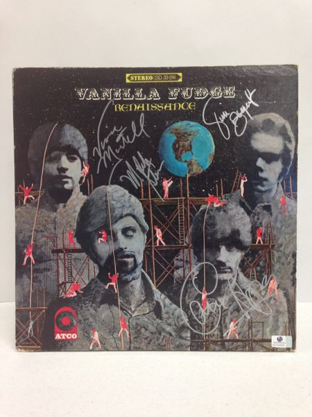 Vanilla Fudge **RENAISSANCE** Signed & Certified LP Cover with vinyl record - GV704324 - signed by: Mark Stein, Vince Martell, Carmine Appice, Tim Bogert