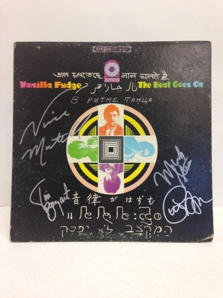 Vanilla Fudge **THE BEAT GOES ON** Signed & Certified LP Cover with vinyl record - GV574821 - signed by: Mark Stein, Vince Martell, Carmine Appice, Tim Bogert