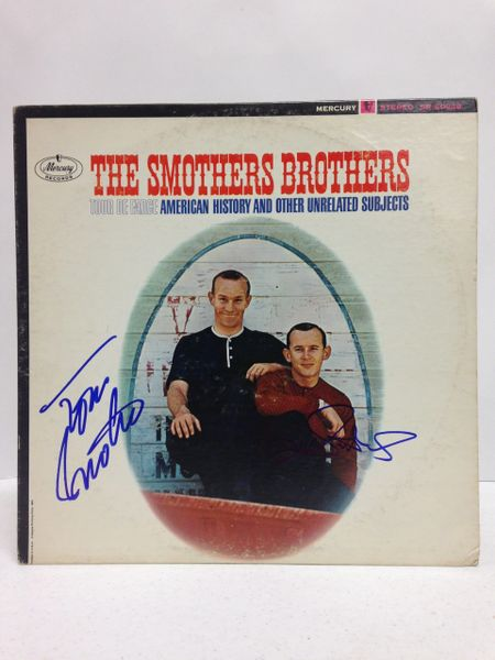 The Smothers Brothers **TOUR DE FARCE, AMERICAN HISTORY AND OTHER UNRELATED SUBJECTS** Signed & Certified LP Cover with record - GV529200 - signed by: Tom Smothers, Dick Smothers