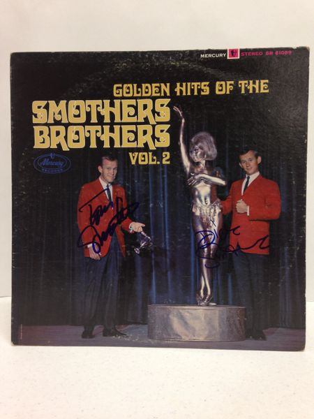 The Smothers Brothers **GOLDEN HITS OF THE SMOTHERS BROTHERS VOL. 2** Signed & Certified LP Cover with record - GV525045 - signed by: Tom Smothers, Dick Smothers