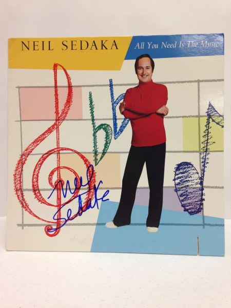 Neil Sedaka **ALL YOU NEED IS THE MUSIC** Signed & Certified LP Cover with vinyl record - GV529229