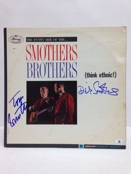 Smothers Brothers **THE FUNNY SIDE OF THE...SMOTHERS BROTHERS** Signed & Certified LP Cover with vinyl record - GV704394 - signed by: Tom Smothers, Dick Smothers