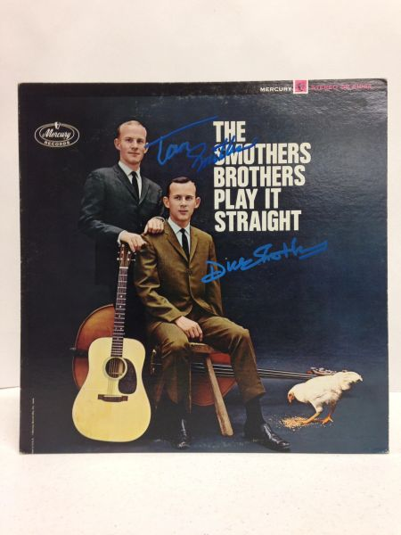 Smothers Brothers **THE SMOTHERS BROTHERS PLAY IT STRAIGHT** Signed & Certified LP Cover with vinyl record - GV591177 - signed by: Tom Smothers, Dick Smothers