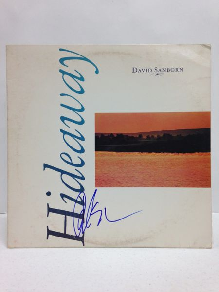 David Sanborn **HIDEAWAY** Signed & Certified LP Cover with vinyl record - GV519232