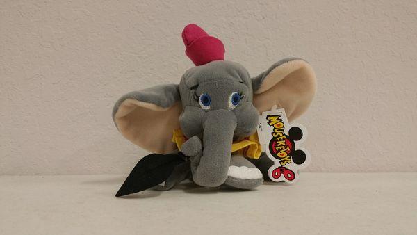 DUMBO THE ELEPHANT with FEATHER Mini Bean Bag - Disney
