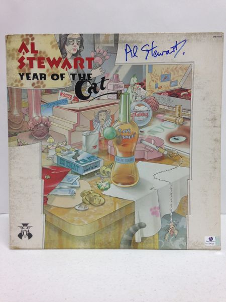 Al Stewart **YEAR OF THE CAT** Signed & Certified LP Cover with vinyl record - GA (Global Authentics) Certification # GV704322