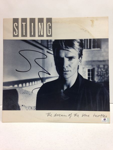 Sting **THE DREAM OF THE BLUE TURTLES** Signed & Certified LP Cover with vinyl record - GV704323
