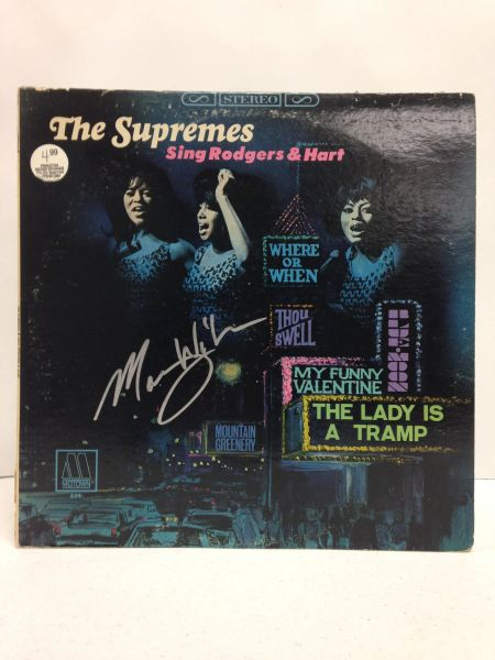 The Supremes **THE SUPREMES SING RODGERS & HART** Signed & Certified LP Cover with record - GV586171 - signed by: Mary Wilson