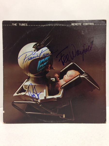 The Tubes **REMOTE CONTROL** Signed & Certified LP Cover with vinyl record - GV591145 - signed by: Fee Waybill, Roger Steen, Prairie Prince