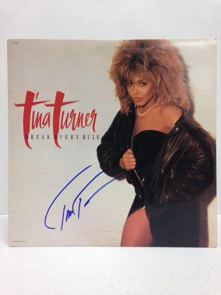 Tina Turner **BREAK EVERY RULE** Signed & Certified LP Cover with vinyl record - GV525064
