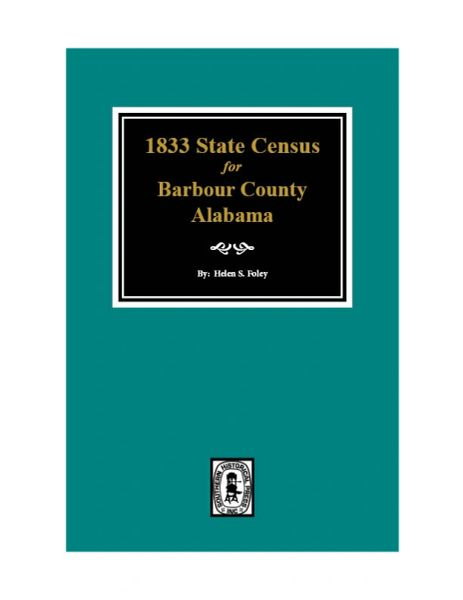 1833 State Census for Barbour County, Alabama