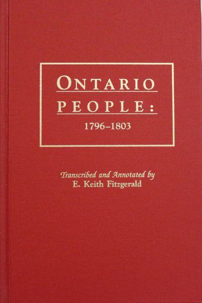 Ontario People: 1796-1803