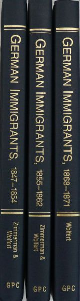German Immigrants, lists of passengers bound from Brenmen to New York, 1847-1862 & 1868-1871. (Volume 1, 2 & 4)