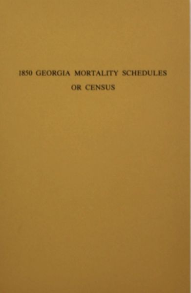 1850 Georgia Mortality Schedules or Census.