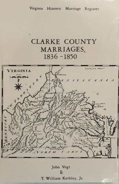 Clarke County, Virginia Marriages, 1836-1850