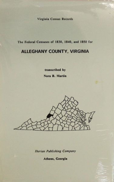 1830, 1840, & 1850 Census for Alleghany County, Virginia