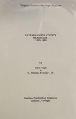 Rappahannock County, Virginia Marriages, 1833-1850