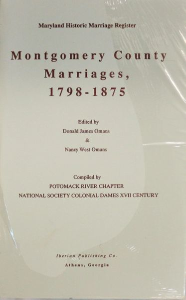 Montgomery County, Maryland Marriages, 1798-1875