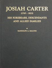 Josiah Carter, 1745-1822, his forbears, descendants and allied families