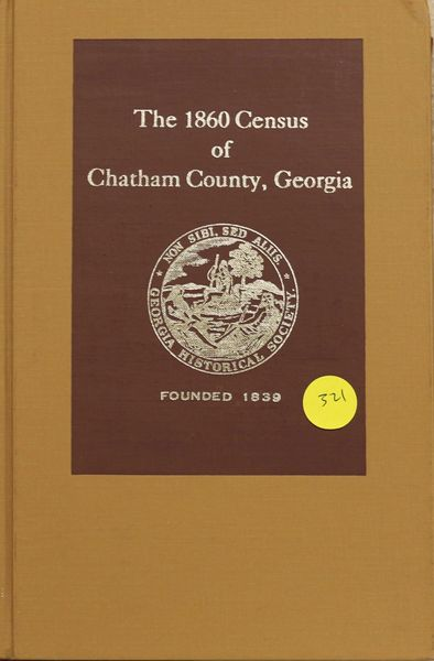 1860 Census of Chatham County, Georgia