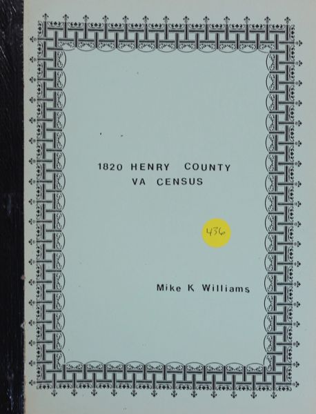 1820 Henry County, Virginia Census