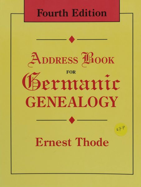Address Book for Germanic Genealogy