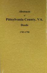 Pittsylvania County, Virginia Deeds 1783-1790.
