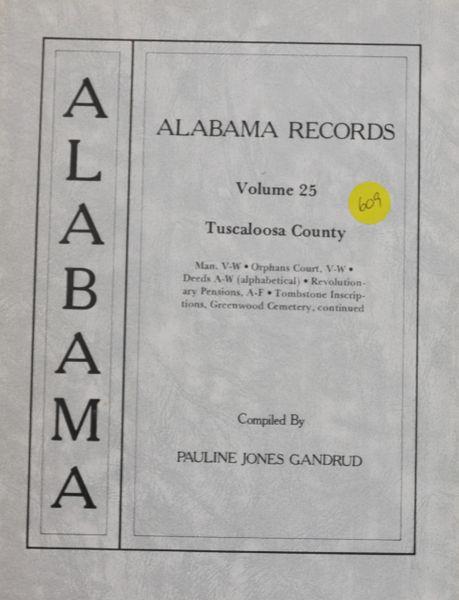 Alabama records - Volume #25 (Tuscaloosa County)