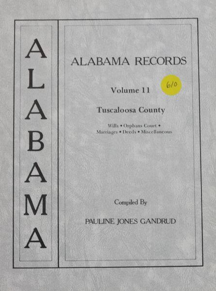 Alabama records - Volume 11 (Tuscaloosa County)