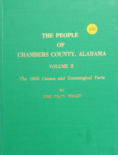 The People of Chambers County, Alabama, Volume #2