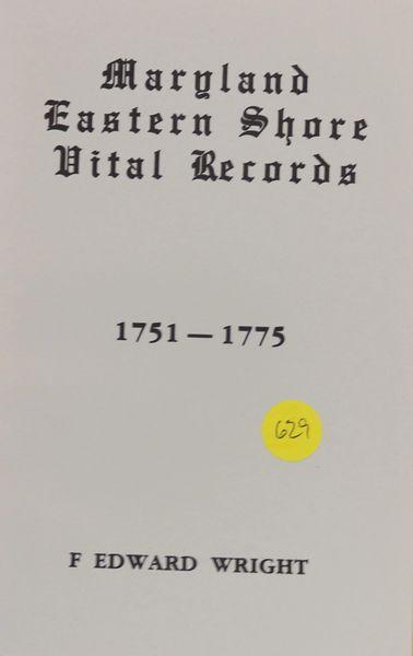Maryland Vital Records, 1751-1775