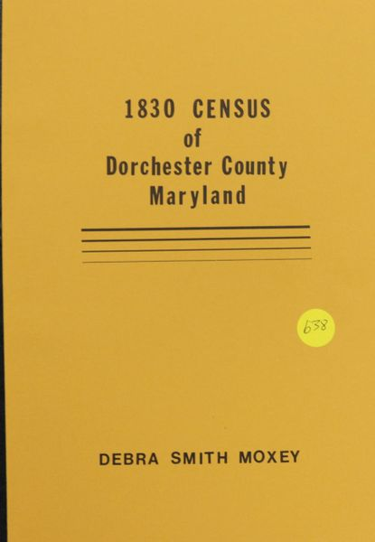 1830 Census of Dorchester County, Maryland