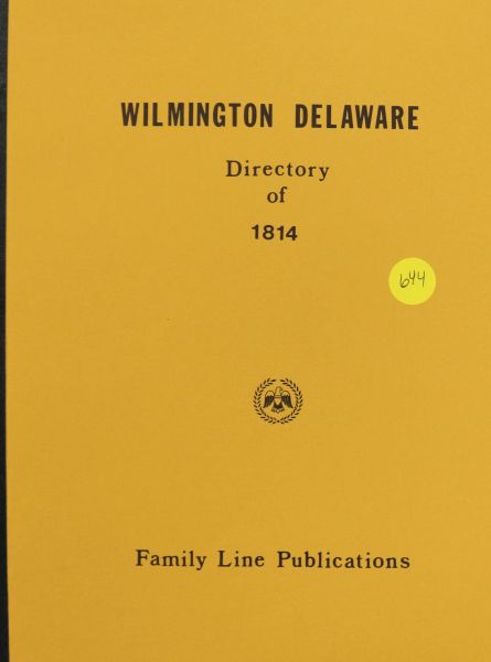 Wilmington Delaware Directory of 1814
