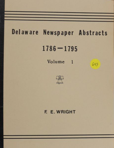 Delaware Newspaper Abstracts 1786-1795