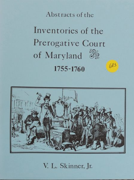 "Abstracts of Inventories of the Prerogative Court of Maryland, 1726-1729 ( 8 1/2"" x 11"")"