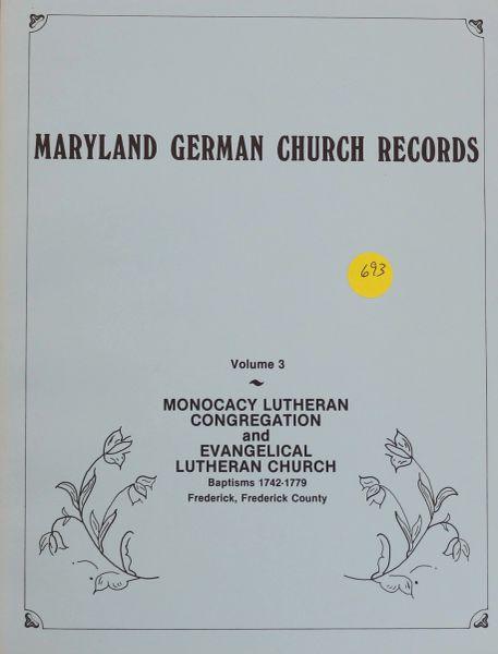 Maryland German Church Records, Volume #3