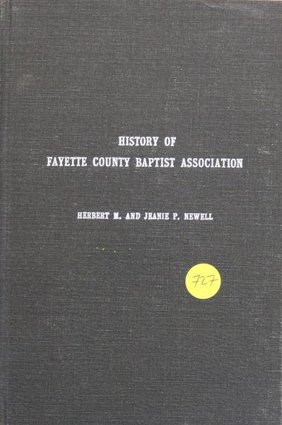History of Fayette County, Alabama Baptist Association