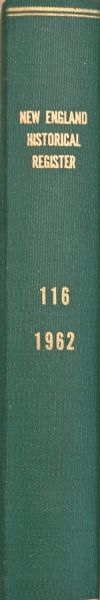 New England Historical & Genealogical Register, Vol. 116 (Year 1969- 4 issues)