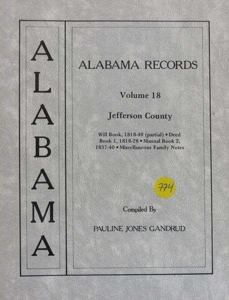 Alabama Records - Volume 18 (Jefferson County, AL)