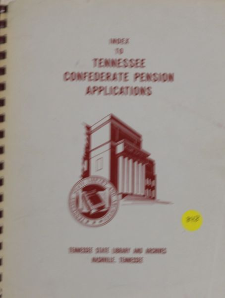Index to Tennessee Confederate Pension Applications