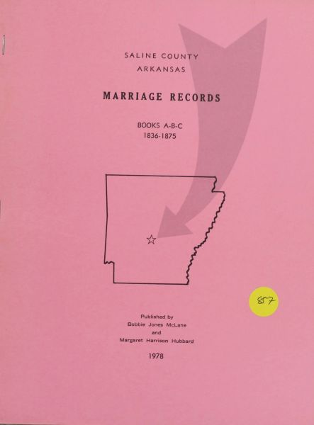 Saline County, Arkansas Marriage Records, 1836-1875