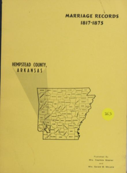 Hempstead County, Arkansas Marriage Records, 1817-1875