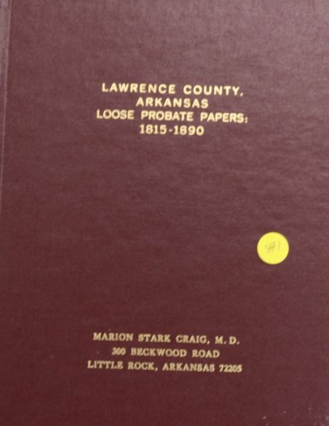 Lawrence County, Arkansas Loose Probate Papers, 1815-1890