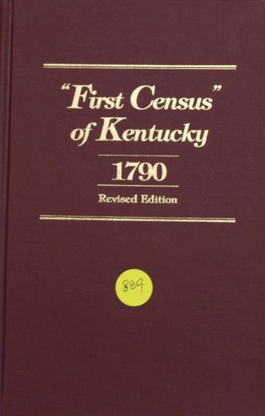 First Census of Kentucky: 1790