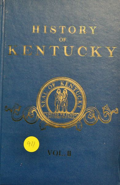 History of Kentucky ( Vol. #2 - Hard Cover)