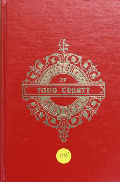 History of Todd County, Kentucky (Hard Cover)