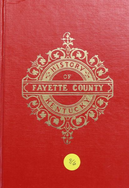 History of Fayette County, Kentucky (Hard Cover)