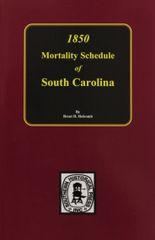 1850 South Carolina Mortality Schedule.